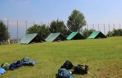 Раскройте занавесы лагеря разведчика Стоковые Фотографии RF