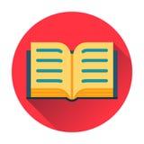 Раскройте значок книги Стоковые Изображения