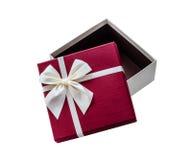 Раскройте изолированную подарочную коробку Стоковая Фотография RF