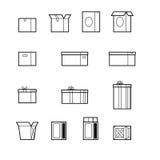 Раскройте и близкие установленные коробки Стоковое Изображение RF
