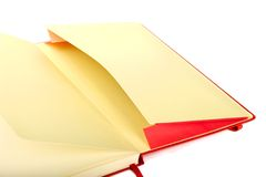 Раскройте карманн тетради Стоковое Изображение