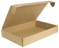 Раскройте картонную коробку с крышкой стоковые изображения rf