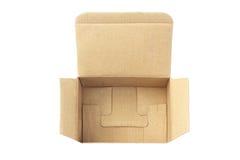 Раскройте картонную коробку Стоковые Фотографии RF