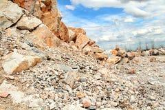 Раскройте карьер белого мрамора Стоковые Фотографии RF