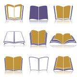 Раскройте книги с отражением Стоковое фото RF
