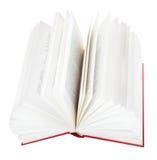 Раскройте книгу изолированную на белой предпосылке Стоковое фото RF