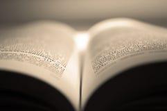 Раскройте книгу и солнечный свет Стоковые Изображения