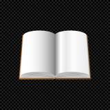 Раскройте книгу при пустые страницы изолированные на прозрачной предпосылке Стоковые Фотографии RF