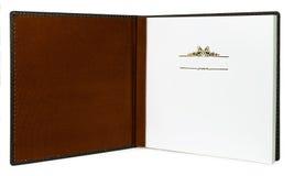 Раскройте книгу при пустые страницы изолированные на ясной предпосылке Стоковая Фотография RF