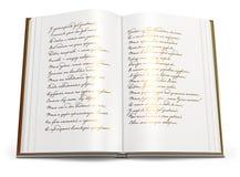 Раскройте книгу стихотворений.   Стоковые Фотографии RF