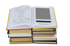Раскройте книгу с eBook Стоковая Фотография