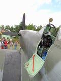 Раскройте кокпит Spitfire Supermarine Стоковые Изображения RF