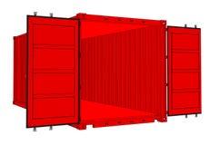 Раскройте контейнер для перевозок изолированный на белизне бесплатная иллюстрация