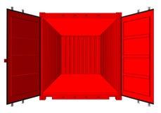 Раскройте контейнер для перевозок изолированный на белизне иллюстрация вектора