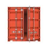 Раскройте контейнер металла изолированный на белой предпосылке Стоковые Фотографии RF