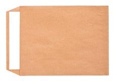Раскройте коричневый конверт с бумажным письмом внутрь Стоковые Фотографии RF
