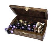 Раскройте коробку для ювелирных изделий Стоковые Фотографии RF