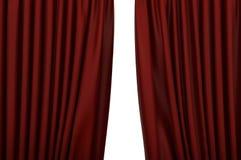 Раскройте красные занавесы в театре иллюстрация вектора