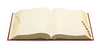 Раскройте красный словарь Стоковое Фото