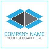 Раскройте логотип вектора коробки для двигать/транспортная компания иллюстрация штока