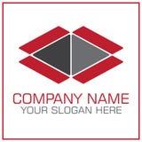 Раскройте логотип вектора коробки для двигать/транспортная компания бесплатная иллюстрация