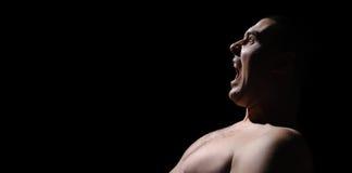 Раскройте мужчины рта Стоковое Фото
