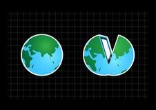 раскройте наш мир Стоковые Фотографии RF