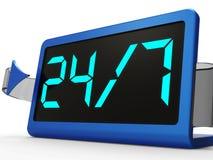 Раскройте на 24 час и 7 дней Стоковые Фотографии RF