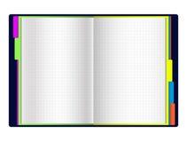Раскройте дневник с закладками цвета Стоковое фото RF