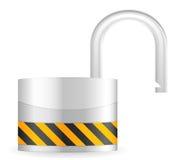 раскройте обеспеченность padlock Стоковые Изображения RF