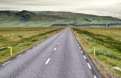 Раскройте дорогу в Исландии Стоковая Фотография
