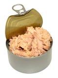 Раскройте олово мяса тунца стоковые изображения