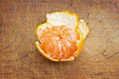 Раскройте плодоовощ tangerine Стоковое Изображение