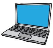 Раскройте портативный компьютер иллюстрация вектора