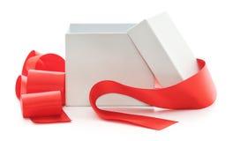 Раскройте подарочную коробку стоковые фотографии rf