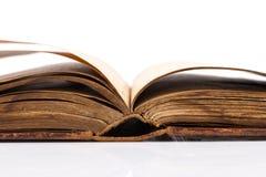 Раскройте пробел книги на белизне Стоковое Изображение RF