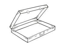 Раскройте пустой чемодан иллюстрация вектора