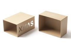 Раскройте пустую коробку подарков Xmas Стоковое фото RF