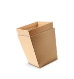 Раскройте 2 пустых картонной коробки Стоковые Изображения RF