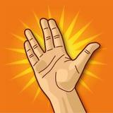 Раскройте руку Стоковые Изображения