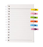 Раскройте связыватель и много кольца дневника струбцины древесины цвета Стоковые Изображения