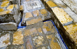 Раскройте систему canalization в jaisalmer, Индии с открытым морем для Стоковая Фотография RF