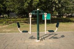 Раскройте спортзал в саде Стоковые Фотографии RF