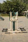 Раскройте спортзал в саде Стоковые Изображения