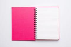 Раскройте тетрадь пустой страницы стоковое изображение rf