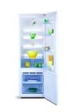 раскройте холодильник Замораживатель холодильника Стоковое фото RF