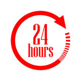 Раскройте 24 часа значка вектора Стоковое фото RF