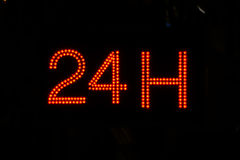 Раскройте 24 часа, рынок, фармацию, гостиницу, бензозаправочную колонку, бензоколонку 8 Стоковая Фотография RF