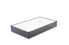 Раскройте черную картонную коробку Стоковая Фотография RF