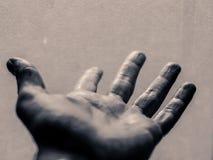Раскройте человеческую руку стоковое фото rf